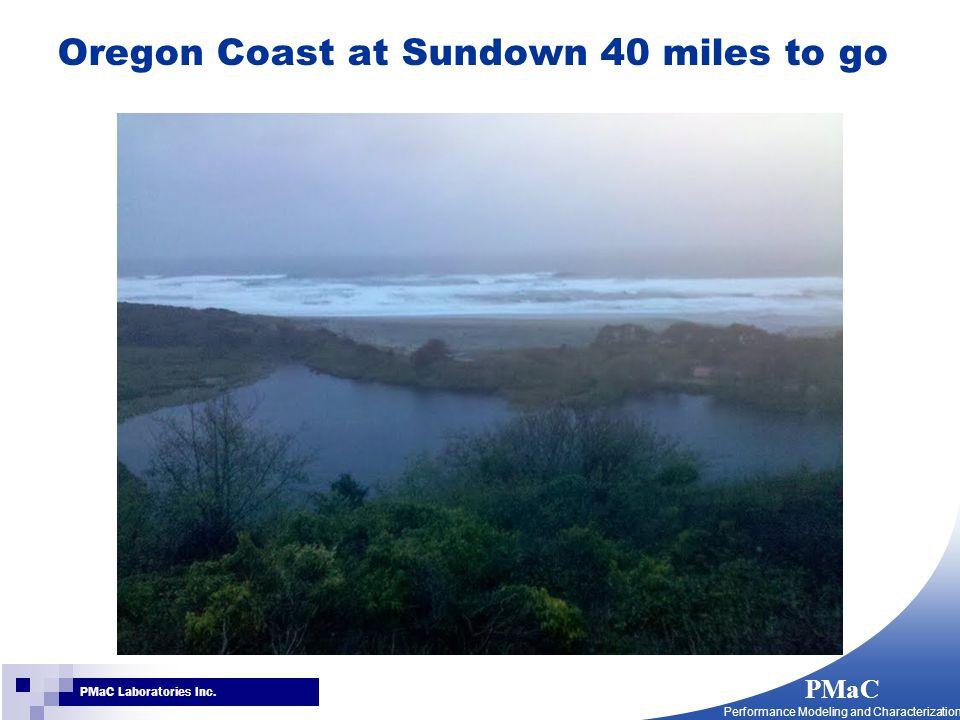 PMaC Performance Modeling and Characterization PMaC Laboratories Inc. Oregon Coast at Sundown 40 miles to go