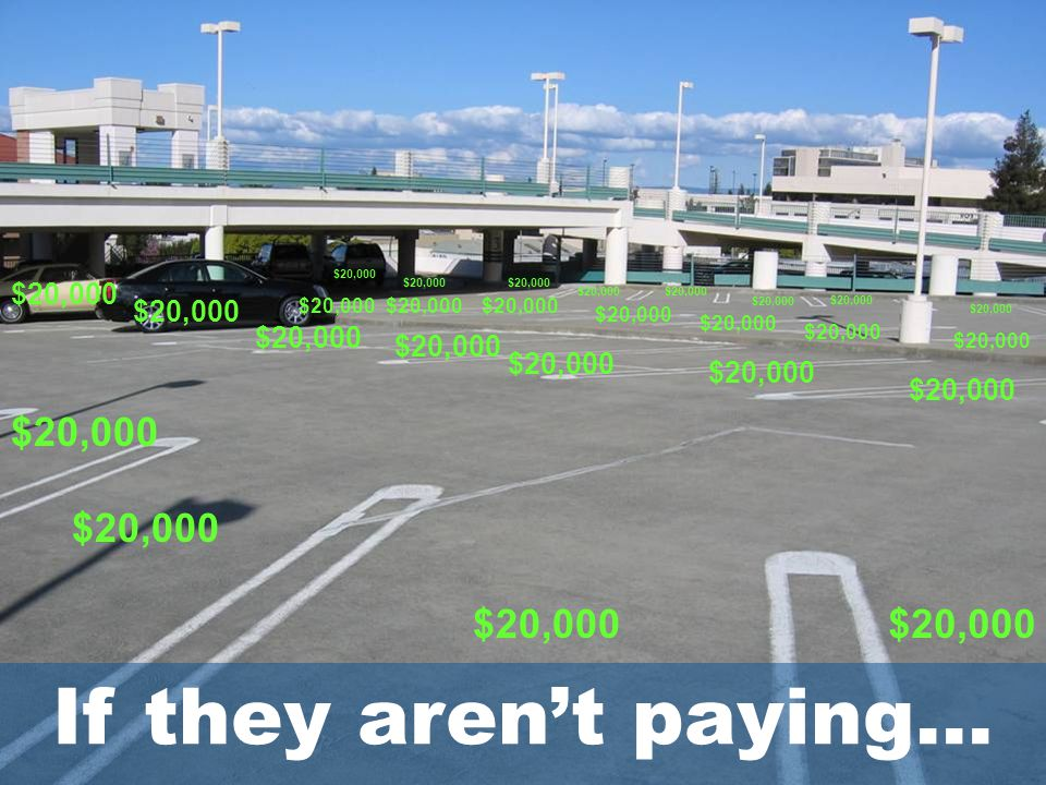 Free Parking: Digging Our Way Out of a TDM Hole Tom Brown, Nelson\Nygaard Consulting 5 $20,000 If they aren't paying…