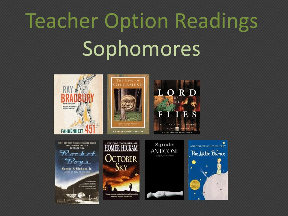 Teacher Option Readings Sophomores
