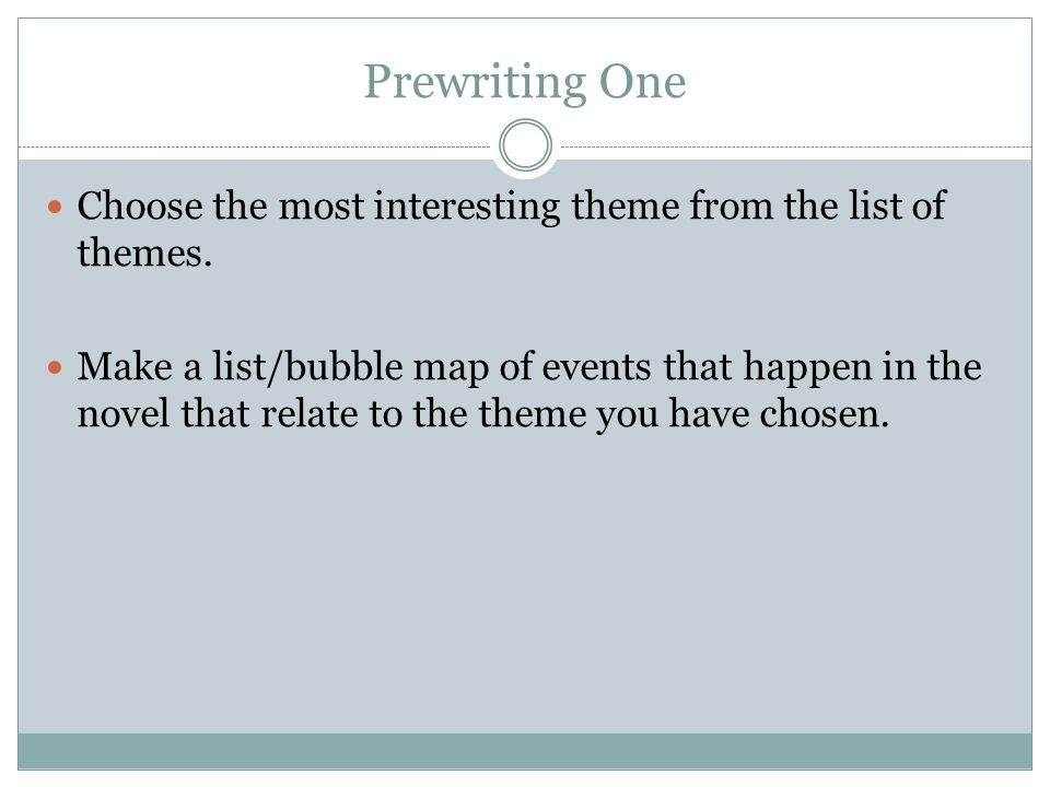 Step TWO: Now go back over your list and UNDERLINE characters and symbols that you find in your list.
