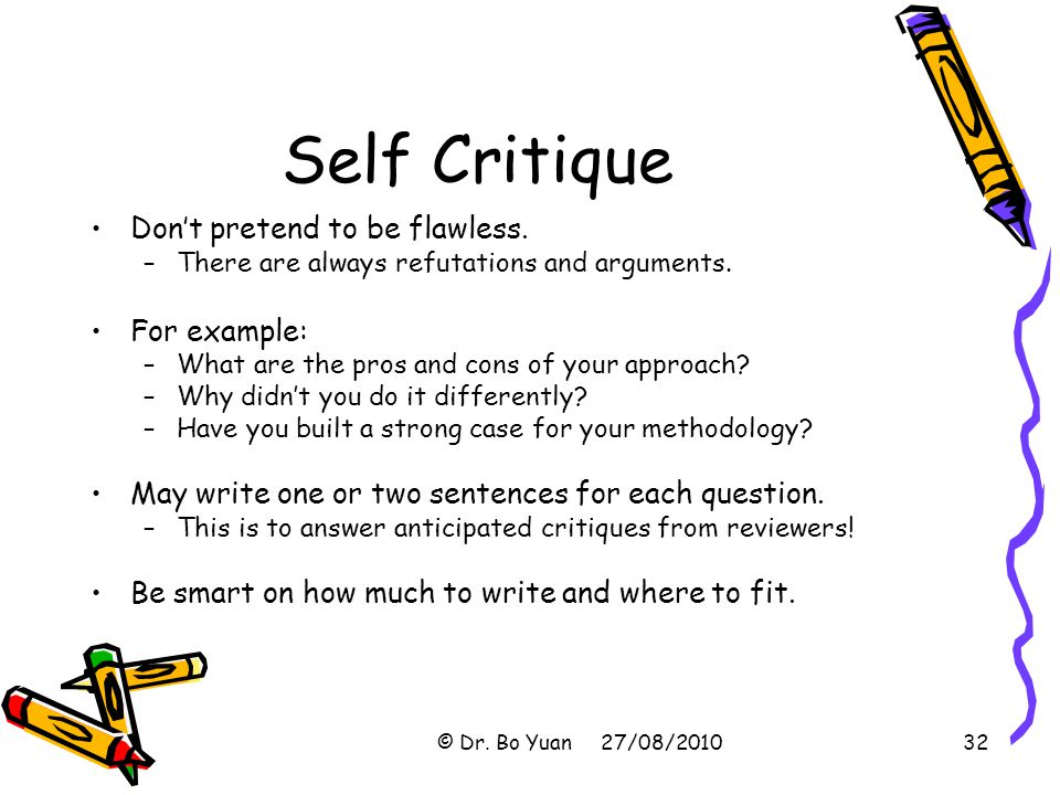 critique in essay writing