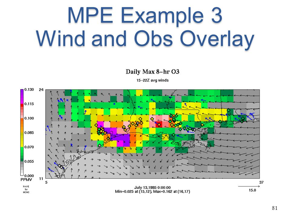 81 MPE Example 3 Wind and Obs Overlay