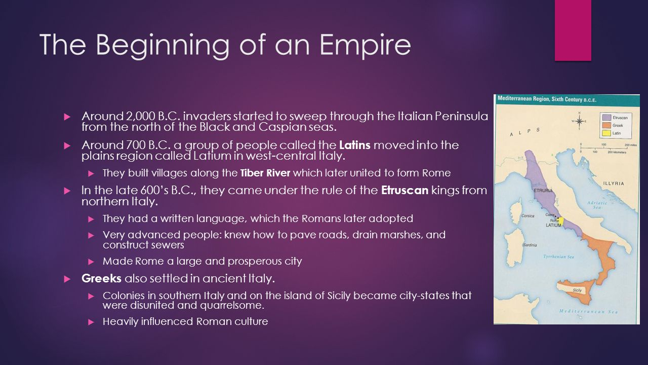 The Early Roman Republic  The Etruscan kings were eventually overthrown by wealthy landowners around 509 B.C.