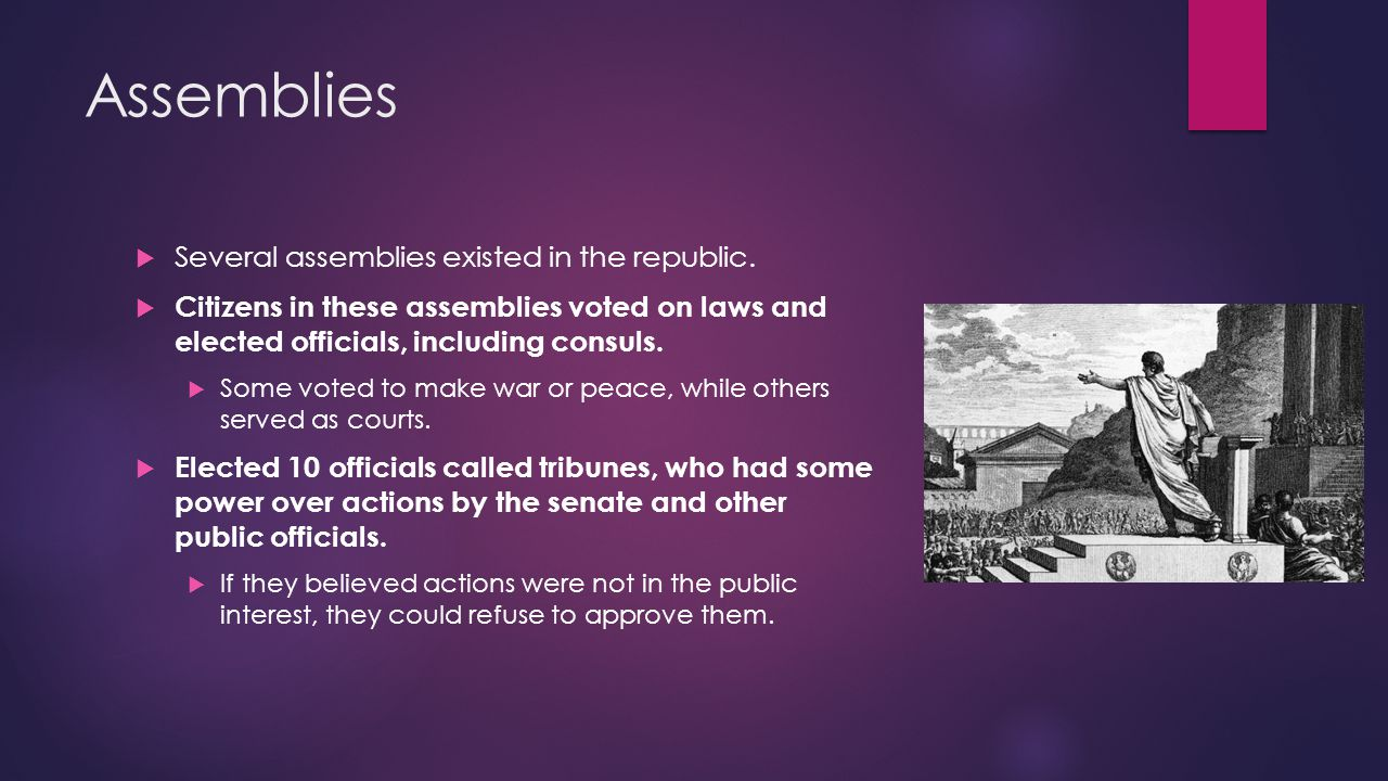The Conflict of Orders  The types of people who served as officials in the Roman gov't changed over time.