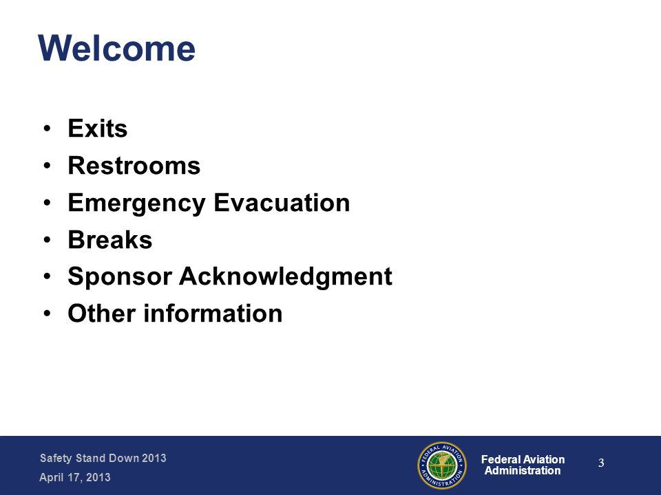Safety Stand Down 2013 April 17, 2013 Federal Aviation Administration Fatal LOC Accidents 2001-2010 94