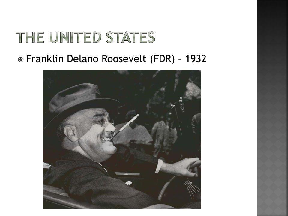  Franklin Delano Roosevelt (FDR) – 1932