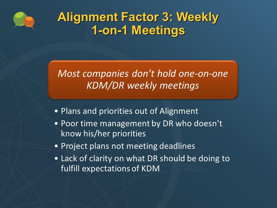 Alignment Factor 3: Weekly 1-on-1 Meetings