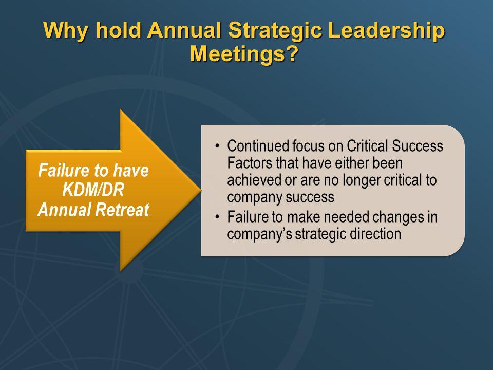 Why hold Annual Strategic Leadership Meetings