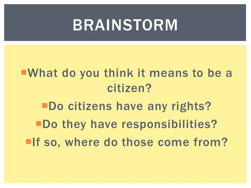 BRAINSTORM  CAN YOU THINK OF ANY DUTIES?
