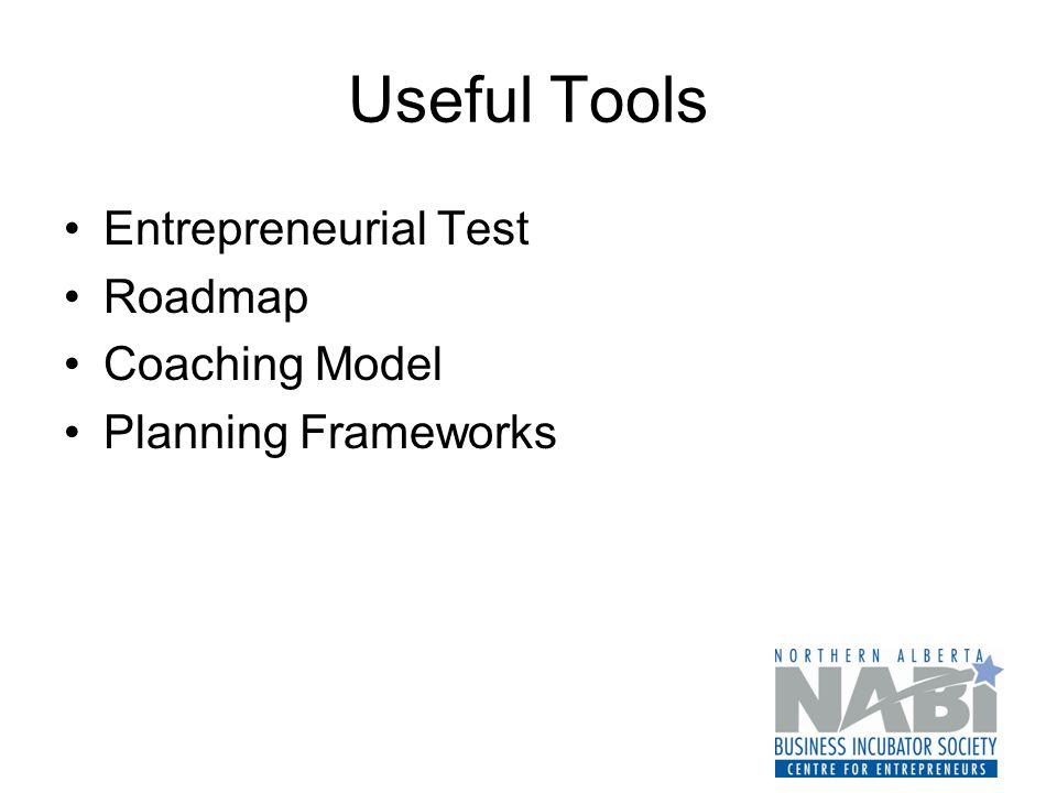 Useful Tools Entrepreneurial Test Roadmap Coaching Model Planning Frameworks