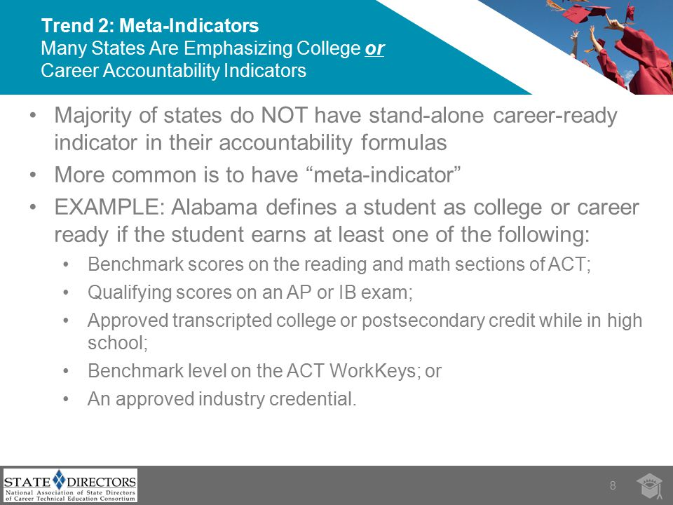 Use multiple measures of college and career readiness.