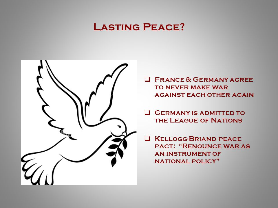 Lasting Peace.