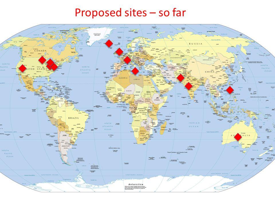 Proposed sites – so far