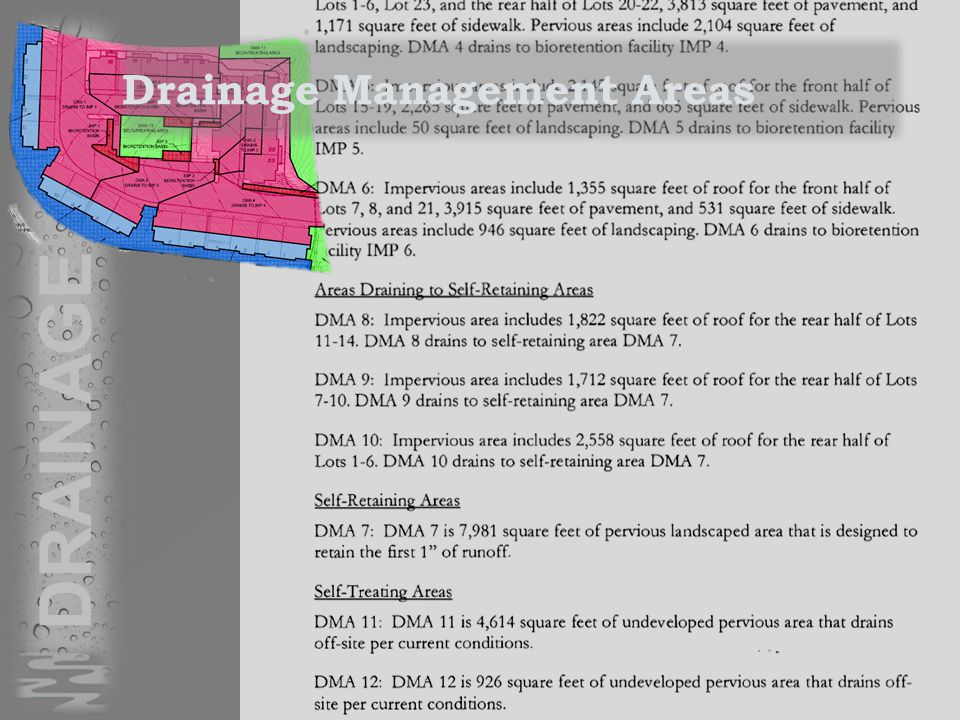 DRAINAGE Drainage Management Areas
