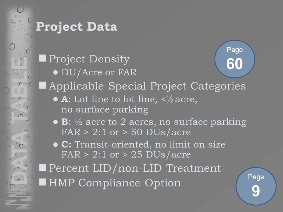 Project Setting Location and Description Existing Site Features and Conditions Opportunities and Constraints