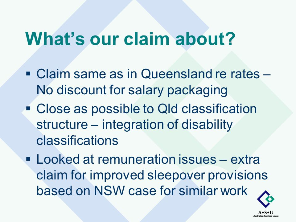 What's our claim about.