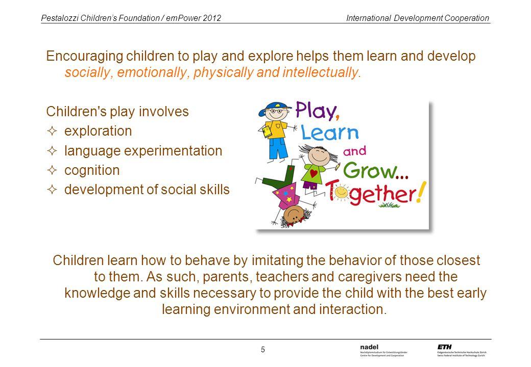Pestalozzi Children's Foundation / emPower 2012 International Development Cooperation School attendance worldwide 6