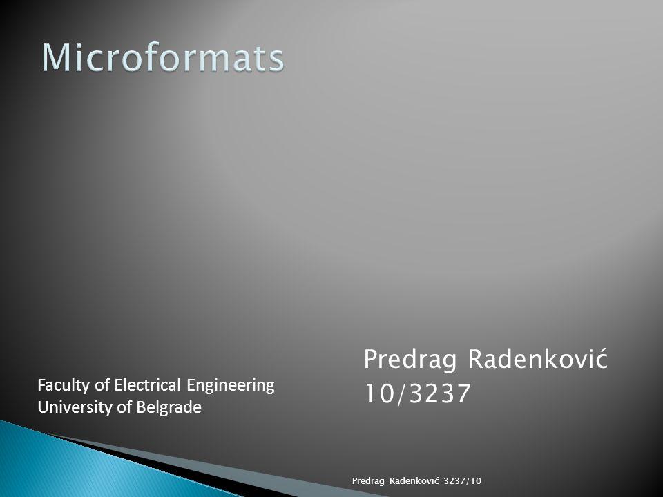 Predrag Radenkovic Software Developer Vlatacom Gospodara Vucica 51/8 Belgrade, Serbia 11000 Cell - +38162402959 Predrag Radenković 3237/1012/21