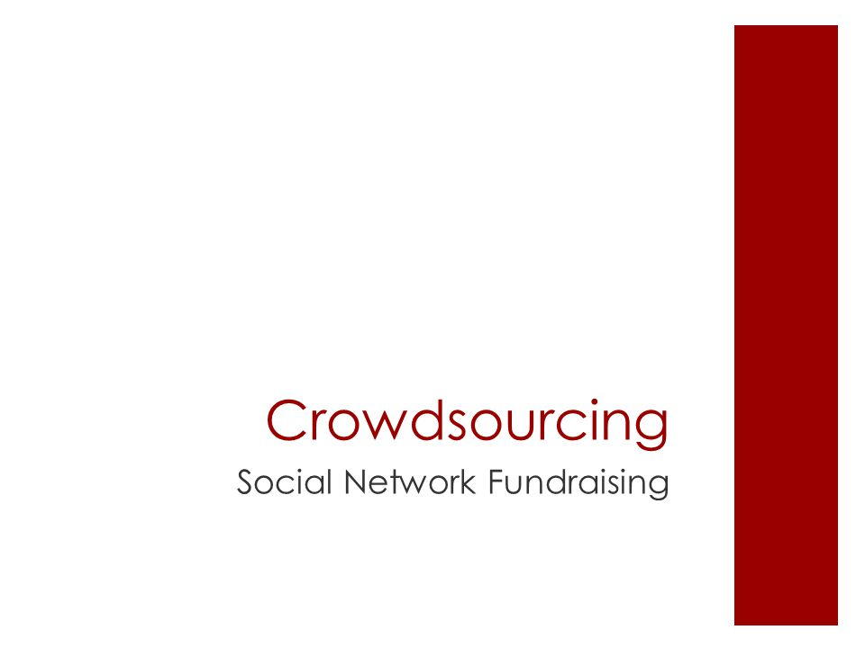 Crowdsourcing Social Network Fundraising