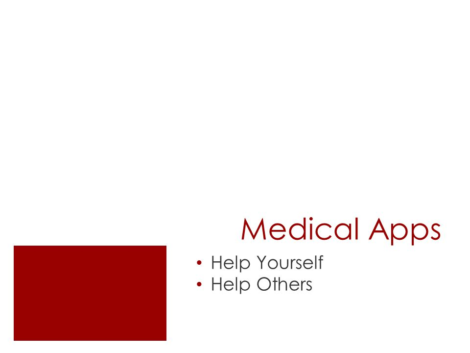 Medical Apps Help Yourself Help Others