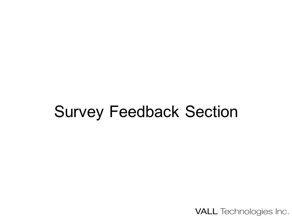 Survey Feedback Section