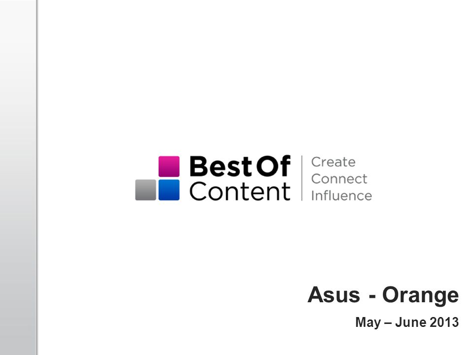 Asus - Orange May – June 2013