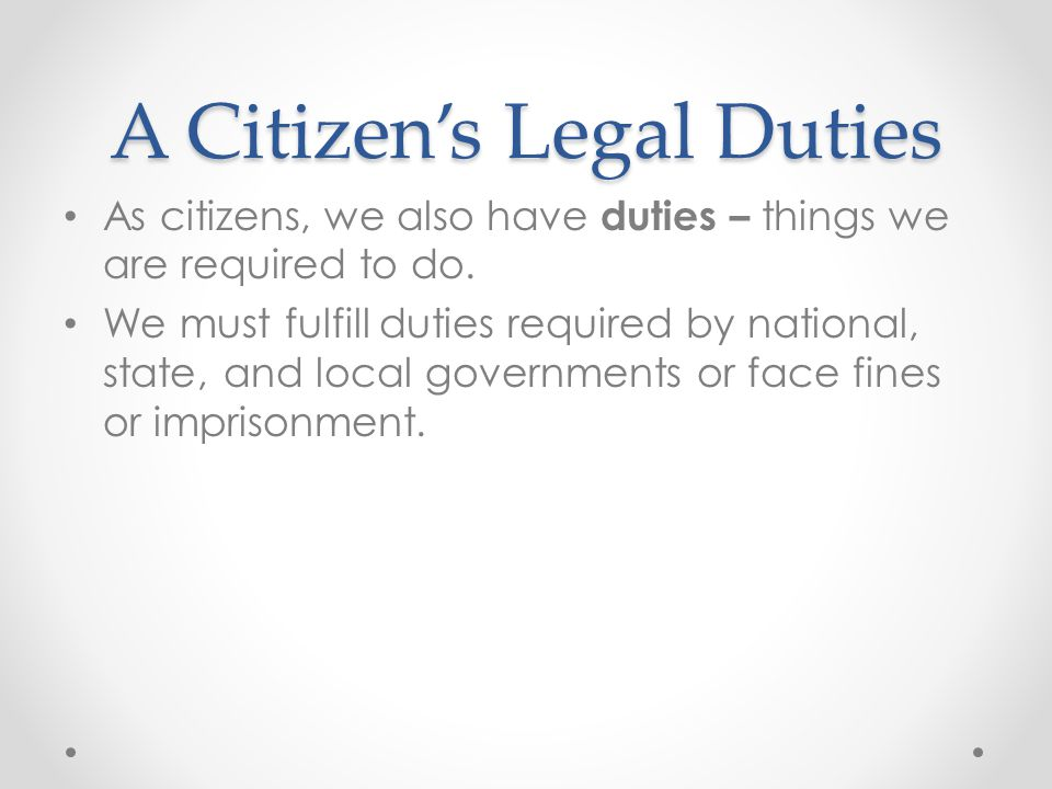 Citizens and the Community By banding together, we truly serve ourselves.