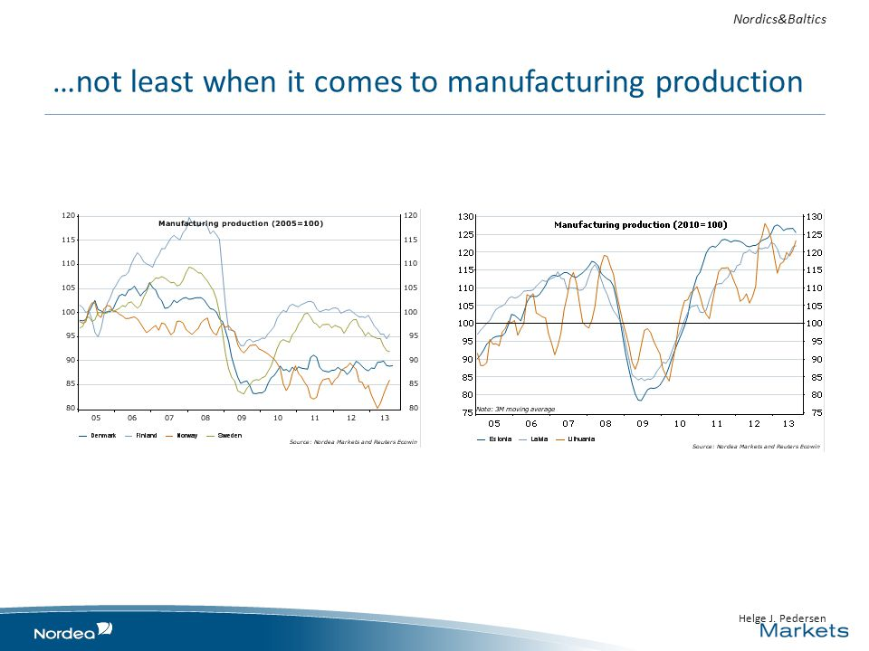 …not least when it comes to manufacturing production Nordics&Baltics Helge J. Pedersen