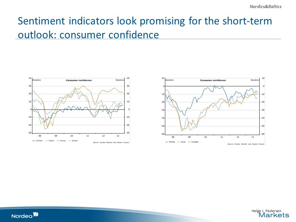 Sentiment indicators look promising for the short-term outlook: consumer confidence Helge J.