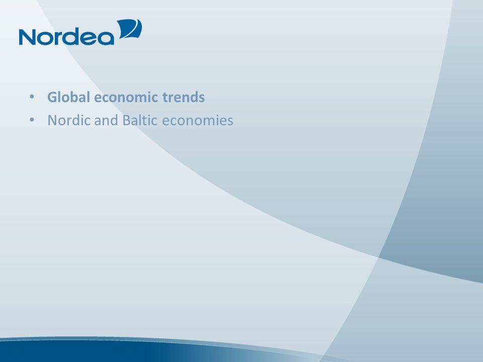 Global economic trends Nordic and Baltic economies