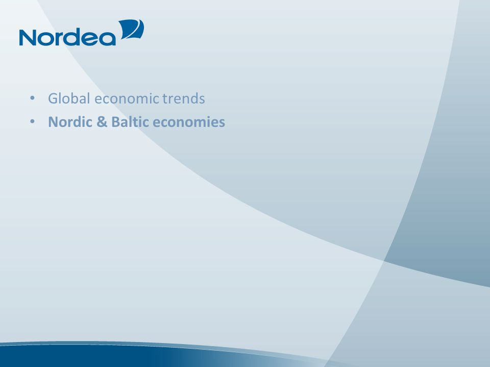 Global economic trends Nordic & Baltic economies