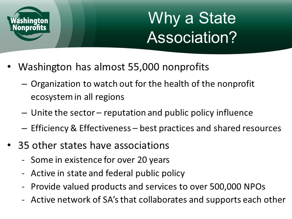 Why a State Association.