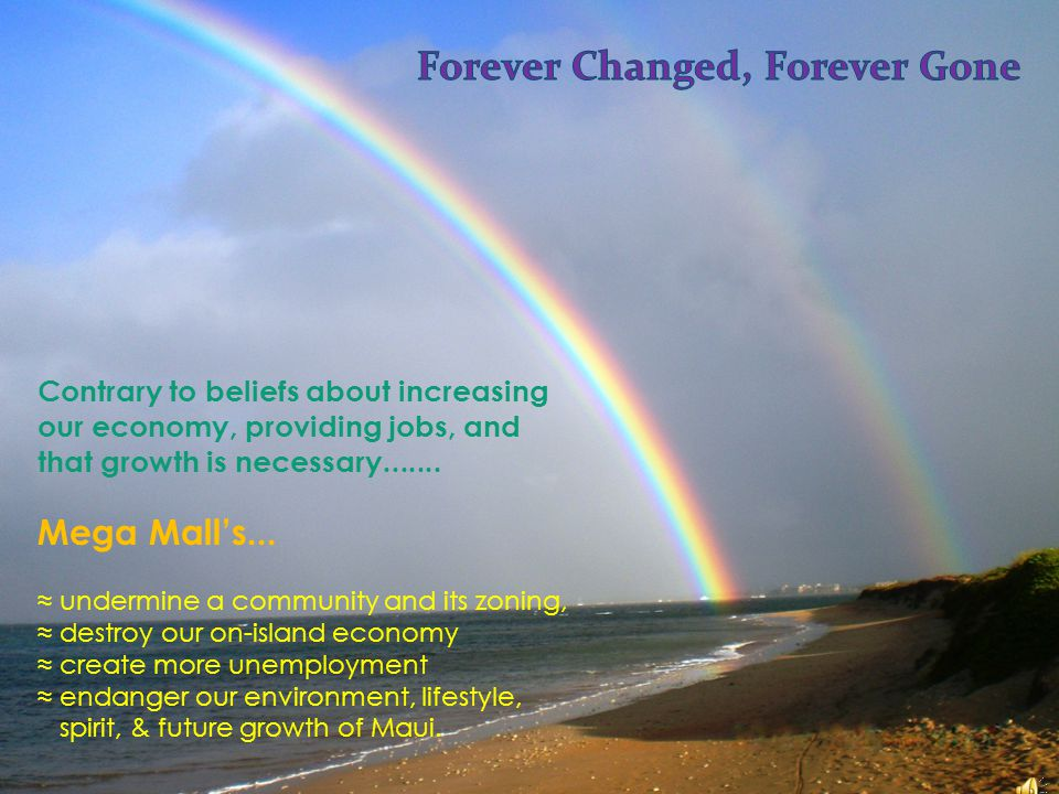 and Sacred Earth Contrary to beliefs about increasing our economy, providing jobs, and that growth is necessary.......