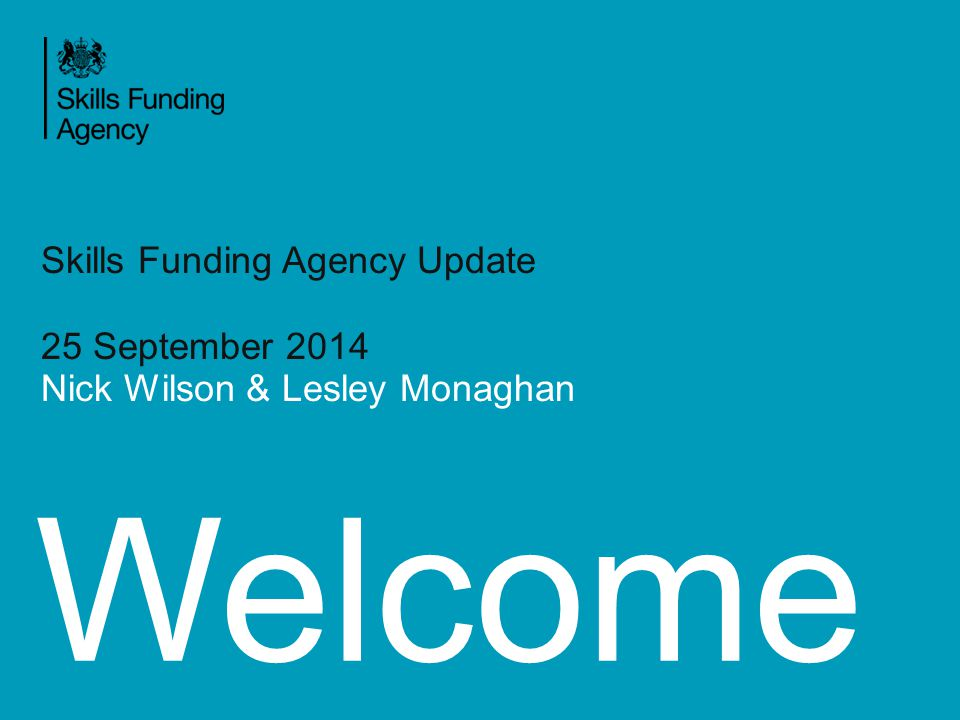 Agenda SFA Structure Apprenticeships Reform Questions