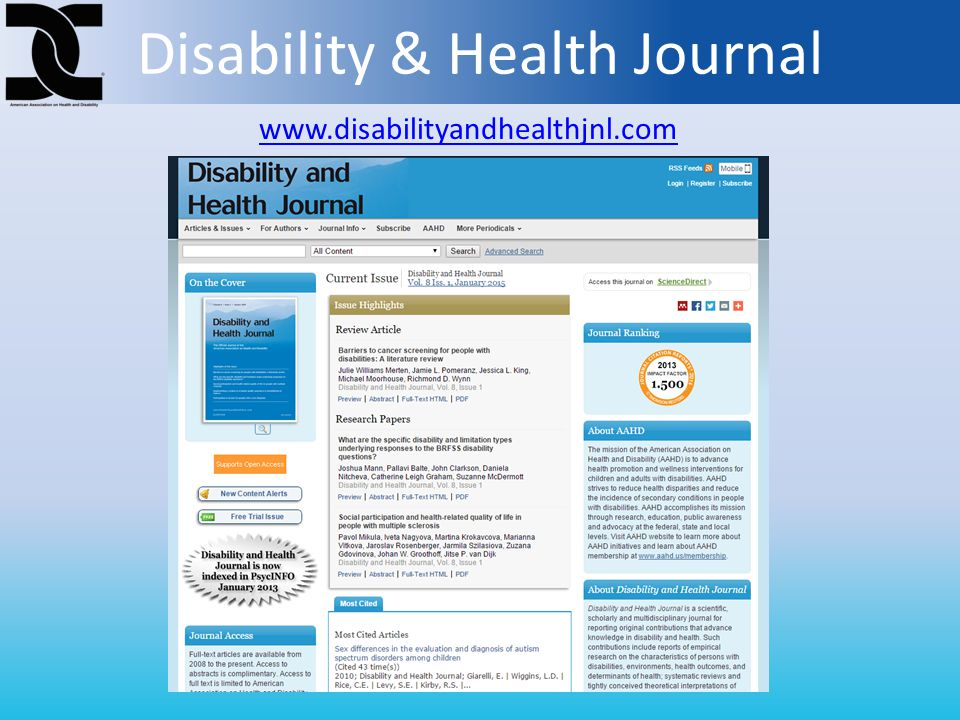 Disability & Health Journal www.disabilityandhealthjnl.com