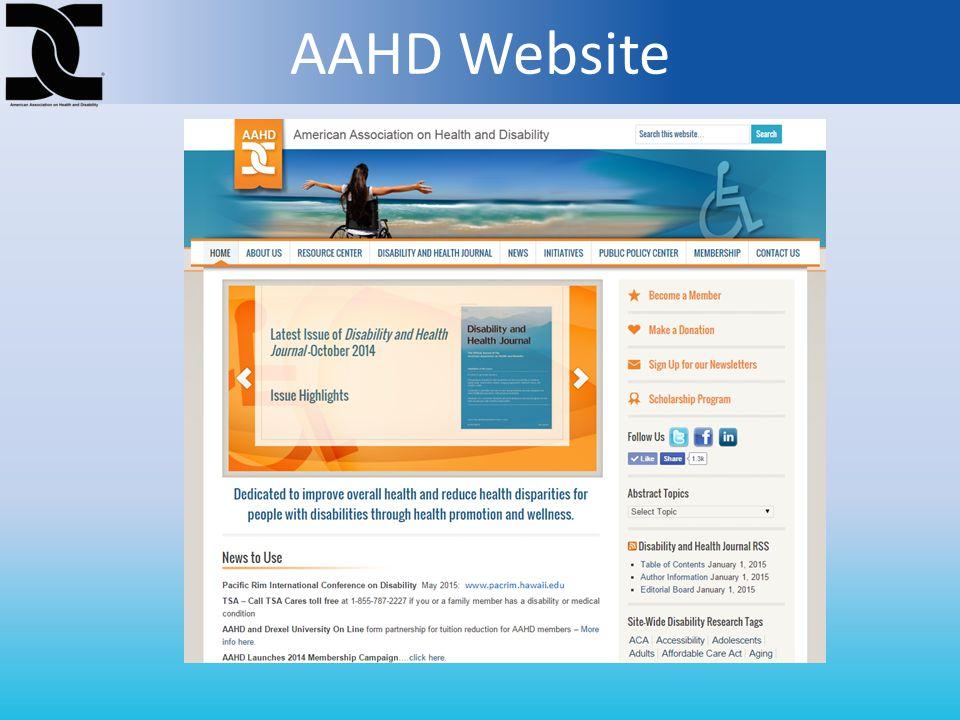 AAHD Website