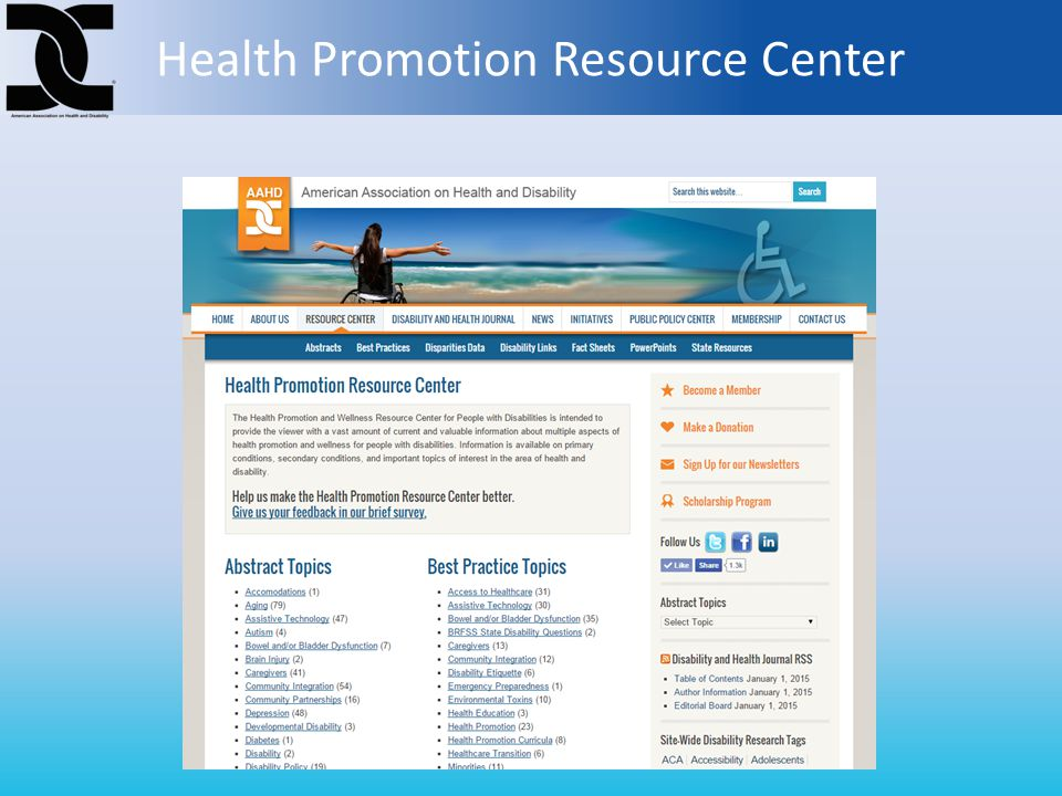 Health Promotion Resource Center