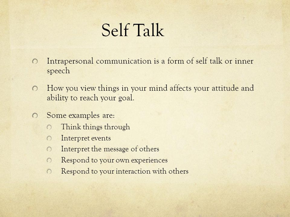 More positive self talk can can increase your focus, concentration, and performance.