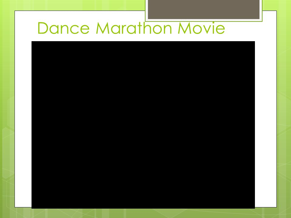 Dance Marathon Movie
