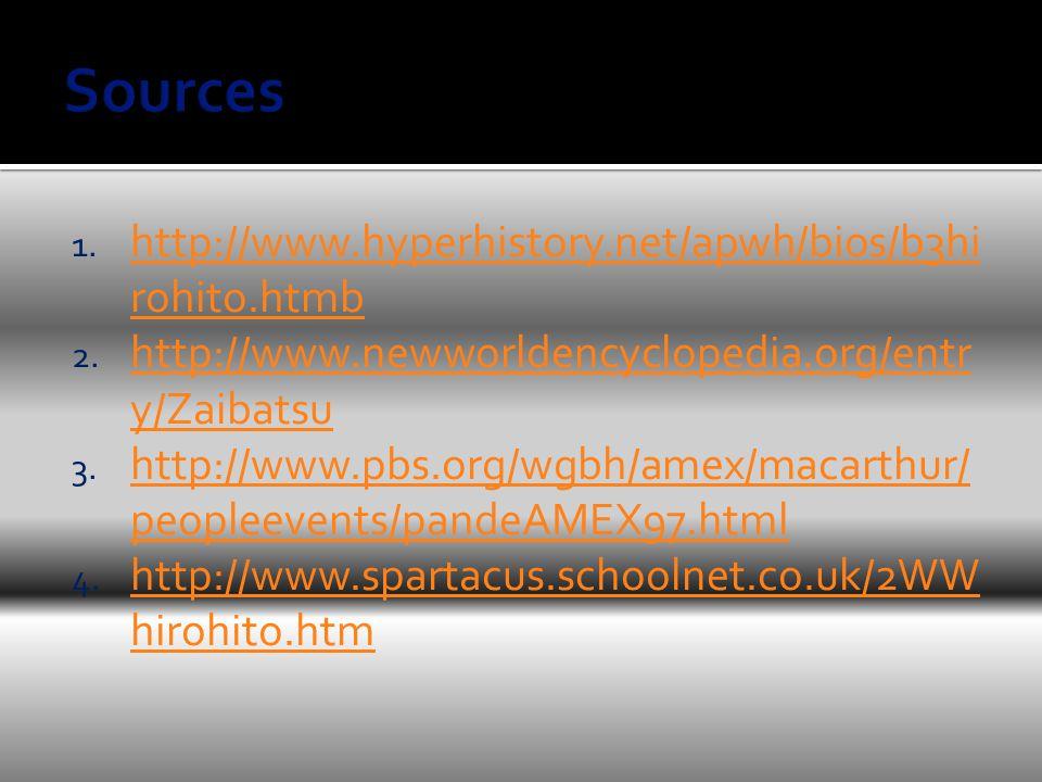 1. http://www.hyperhistory.net/apwh/bios/b3hi rohito.htmb http://www.hyperhistory.net/apwh/bios/b3hi rohito.htmb 2. http://www.newworldencyclopedia.or