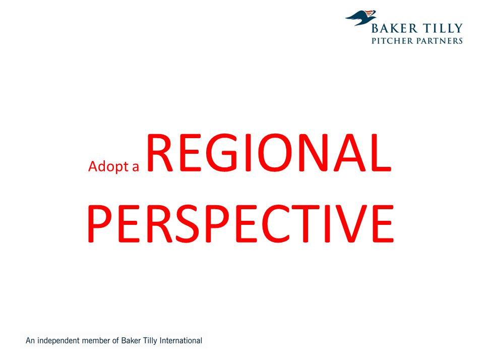 Adopt a REGIONAL PERSPECTIVE