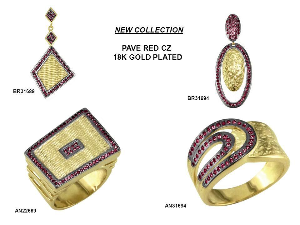 NEW COLLECTION RED QUARTZ W/ PAVE RED COLORED CUBIC ZIRCONIA ACCENT BR31704 AN13704 P22704 STONE OPTION: ROSE QUARTZ ONYX GREEN QUARTZ
