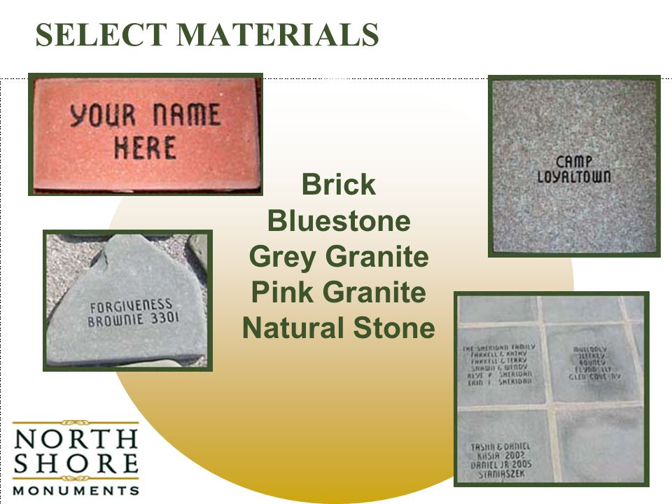 Brick Bluestone Grey Granite Pink Granite Natural Stone SELECT MATERIALS