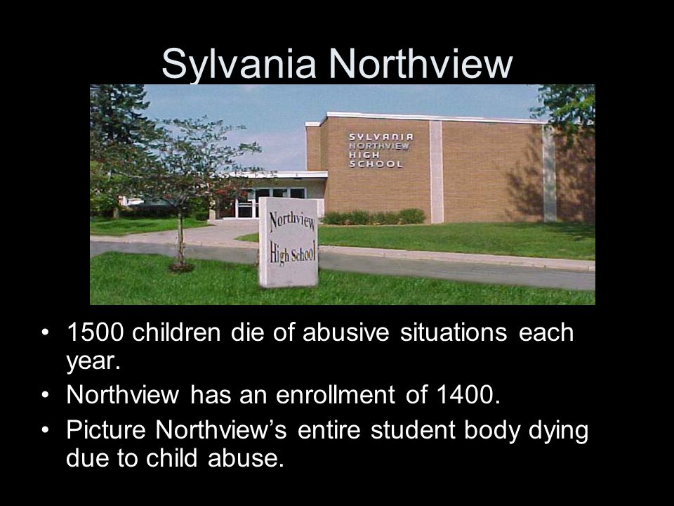 Sylvania Northview 1500 children die of abusive situations each year.