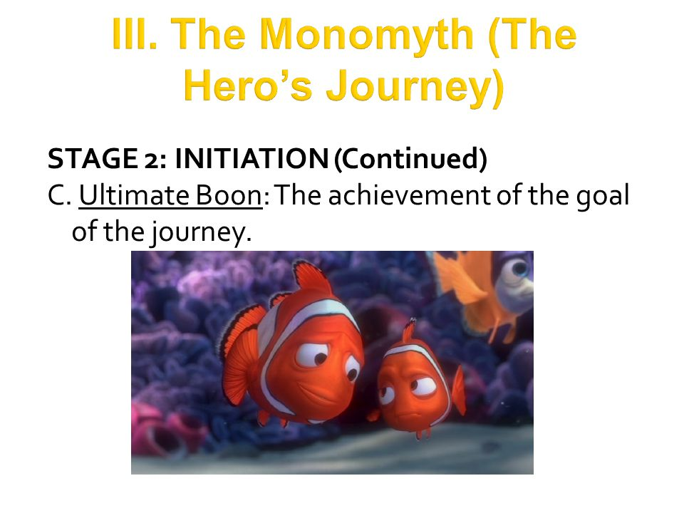 STAGE 3: THE RETURN  The Crossing of the Return Threshold  The Master of the Two Worlds/The Freedom to Live (Reward): The hero is now comfortable and confident in both the known world and the shadow realm and is free to live in the moment.