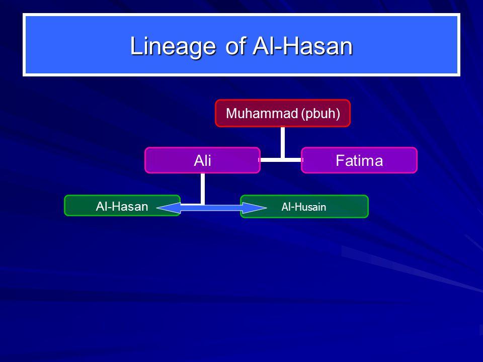 Lineage of Al-Hasan Al-Husain