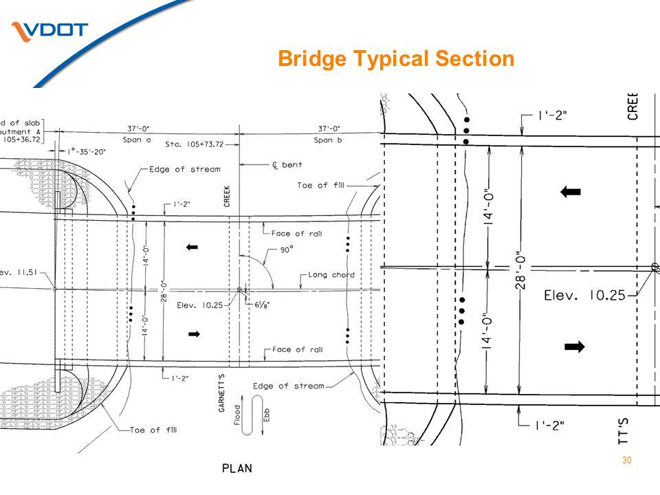 Bridge Typical Section 30