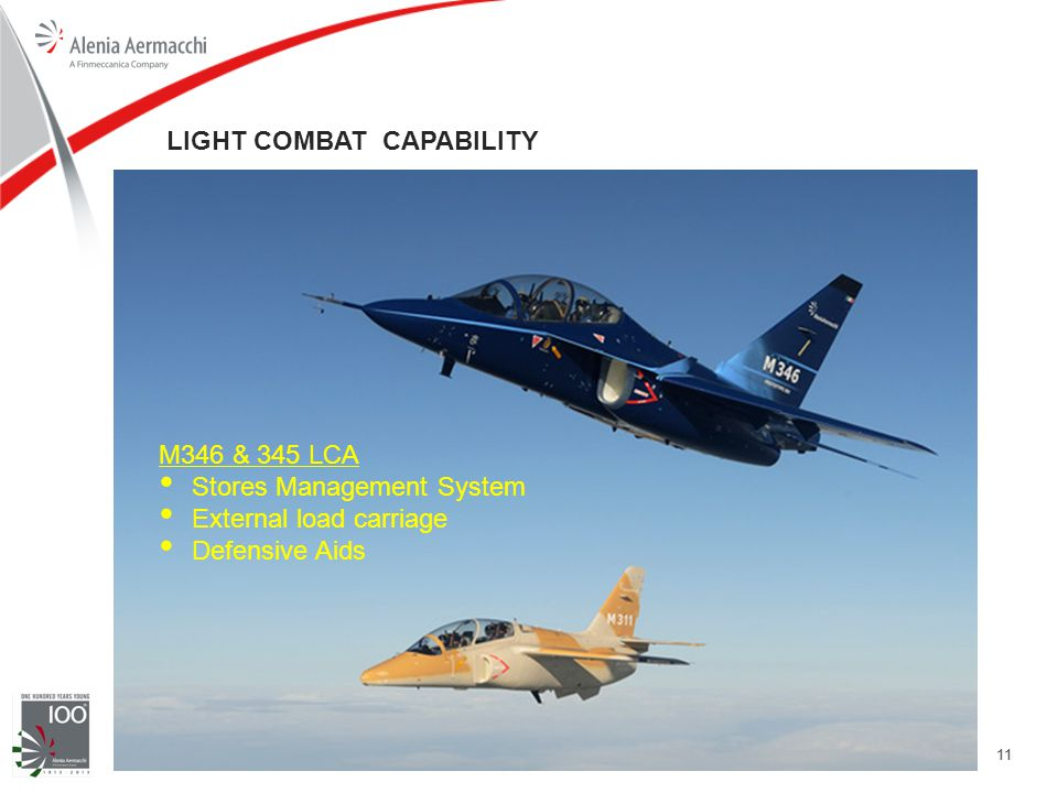 11 LIGHT COMBAT CAPABILITY M346 & 345 LCA Stores Management System External load carriage Defensive Aids