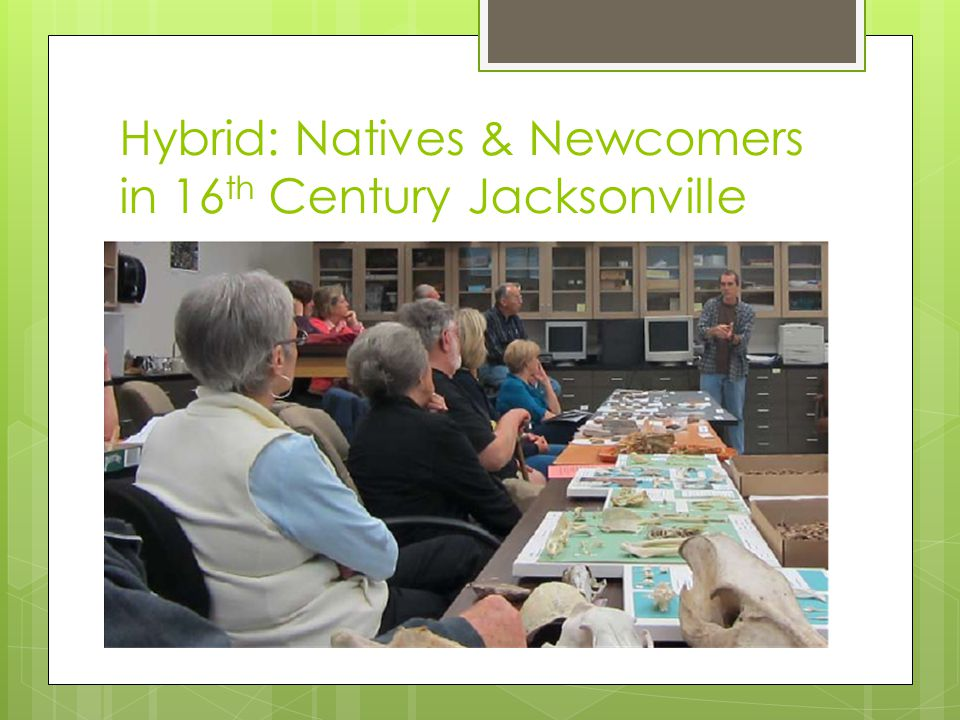 Hybrid: Natives & Newcomers in 16 th Century Jacksonville