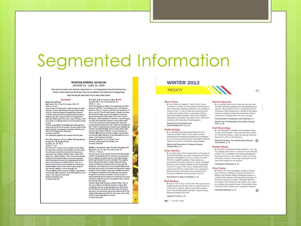 Segmented Information